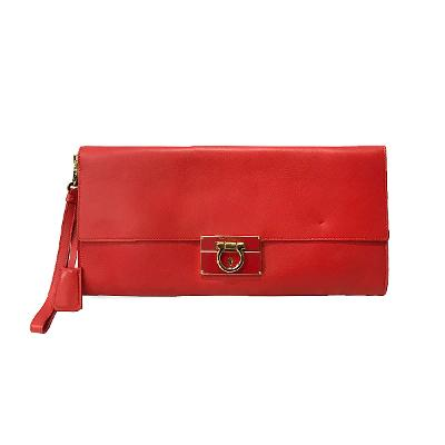 camy clutch bag red